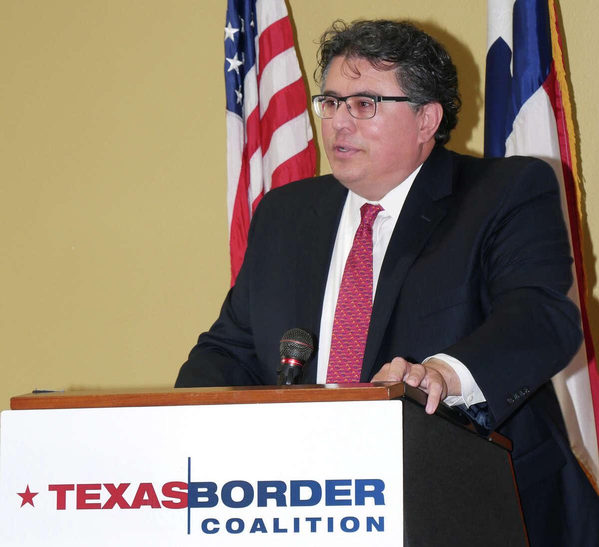 Texas Secretary of State Rolando Pablos was the keynote speaker at the Texas Border Coalition Annual Meeting in Laredo, at La Posada Hotel, Thursday, November 2, 2017.
