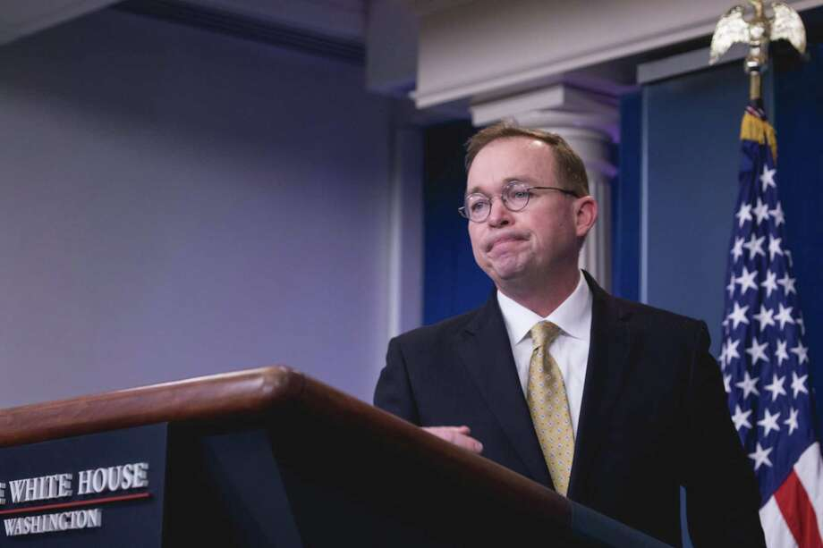 Office of Management and Budget Director Mick Mulvaney speaks to the media last month. Photo: Cheriss May/NurPhoto, MBR / Zuma Press