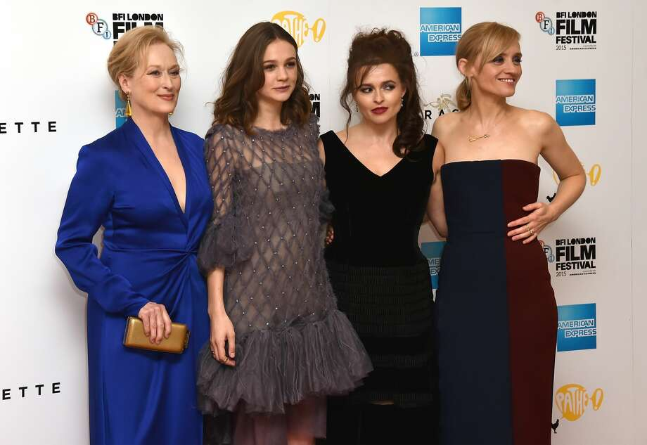 """LONDON, ENGLAND - OCTOBER 07:  Actresses Meryl Streep, Carey Mulligan, Helena Bonham Carter and Anne Marie Duff attend the """"Suffragette"""" premiere at the Opening Night Gala during the BFI London Film Festival at the  Odeon Leicester Square on October 7, 2015 in London, England.  (Photo by Gareth Cattermole/Getty Images for BFI) Photo: Gareth Cattermole/Getty Images For BFI"""