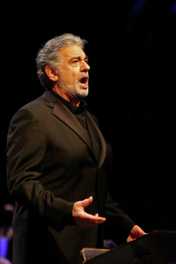 World-famous tenor Plácido Domingo, who turned 77 on Sunday, performed Wednesday night in a Tricentennial concert. Photo: Courtesy Aris Messinis