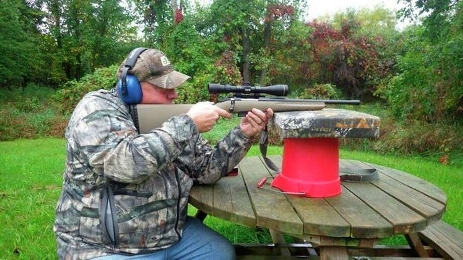 Randy Severance of Decker purchased one of the first Ruger bolt-actions in.450 Bushmaster from Randy's Hunting Center of Bad Axe, just prior to the2016firearmdeer season. The rifle is topped with a Leupold scope that hasbeen calibrated to the .450 Bushmaster round, and clicking in the properrange allows for point-of-aim accuracy up to 300 yards. Severance is pleased with the dependable performance of his rifle/cartridge/scopecombination. (Tom Lounsbury/Hearst Michigan)