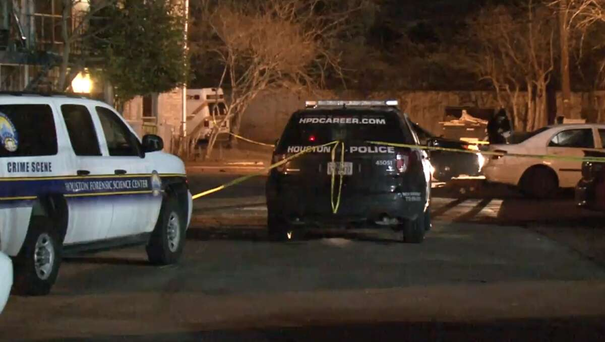 One man was killed and another shot outside a Braeburn apartment complex Wednesday night, Houston Police said. Police were called to the Rockport Apartments in the 8500 block of Nairn Street around 10 p.m. after a man who had been shot drove to the complex and asked for residents to call an ambulance, police said.