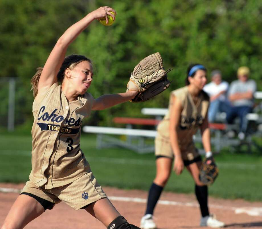 Cohoes pitcher Courtney Dayter winds up against an opposing batter. (Cindy Schultz / Times Union) Photo: CINDY SCHULTZ