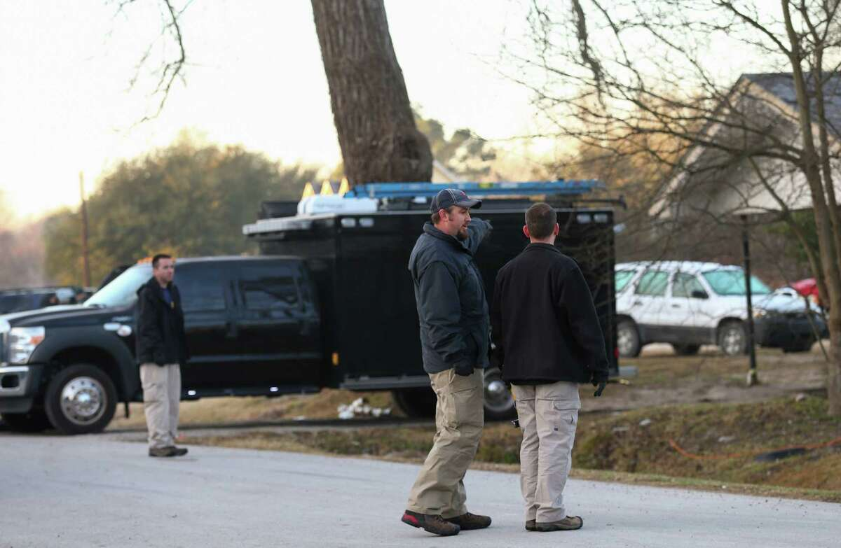 PHOTOS: Shooting location FBI agents investigate a fatal shooting in the 7300 block of Elbert Street Thursday, Jan. 25, 2018, in Houston. >>See more of the FBI investigation and learn how the incident began...