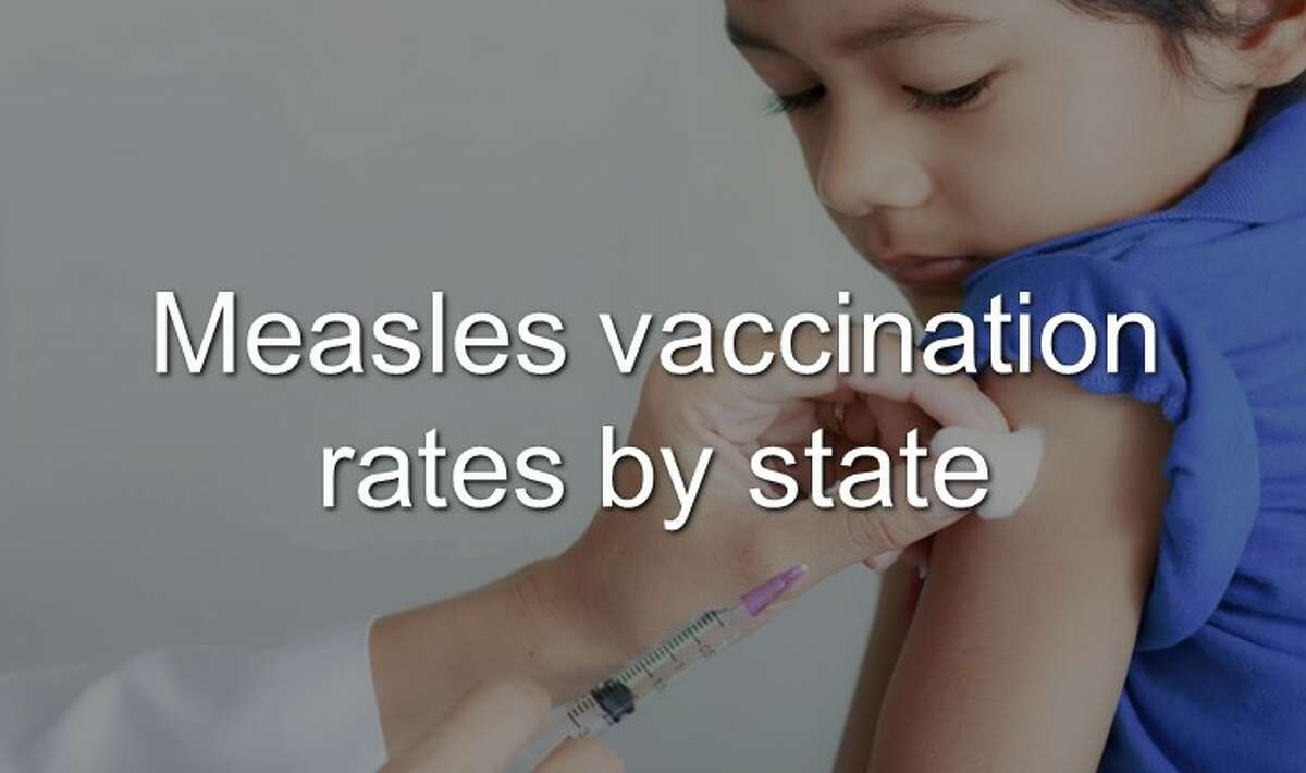 Continue through the photos to see the statistics of measles vaccinations rates by state.