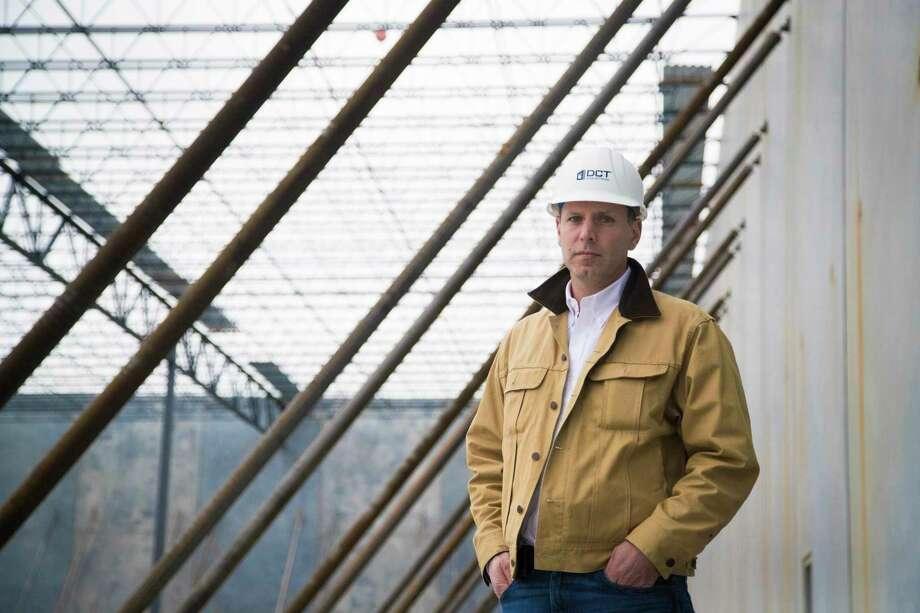 Justin Bennett, Senior vice-president of DCT Industrial at a warehouse construction site at 850 Sens Road, La Porte, Tuesday, Jan. 9, 2018, in La Porte. ( Marie D. De Jesus / Houston Chronicle ) Photo: Marie D. De Jesus, Houston Chronicle / © 2018 Houston Chronicle