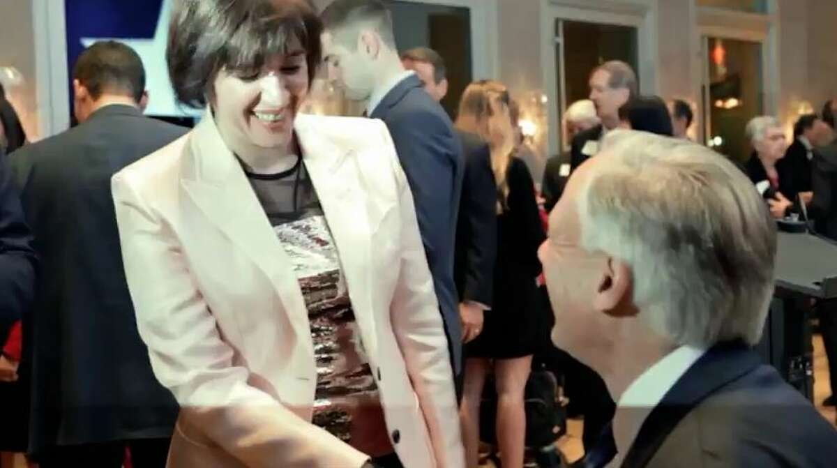 In this screen shot from a TV ad released Jan. 25, 2018, Republican House District 134 candidate Susanna Dokupil shakes hands with Gov. Greg Abbott. Abbott's campaign said he paid for the ad, but wouldn't say if more are coming in his quest to unseat incumbent Republican Rep. Sarah Davis of West University Place.