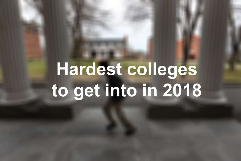 Hardest colleges to get into in 2018. Photo: LMTonline