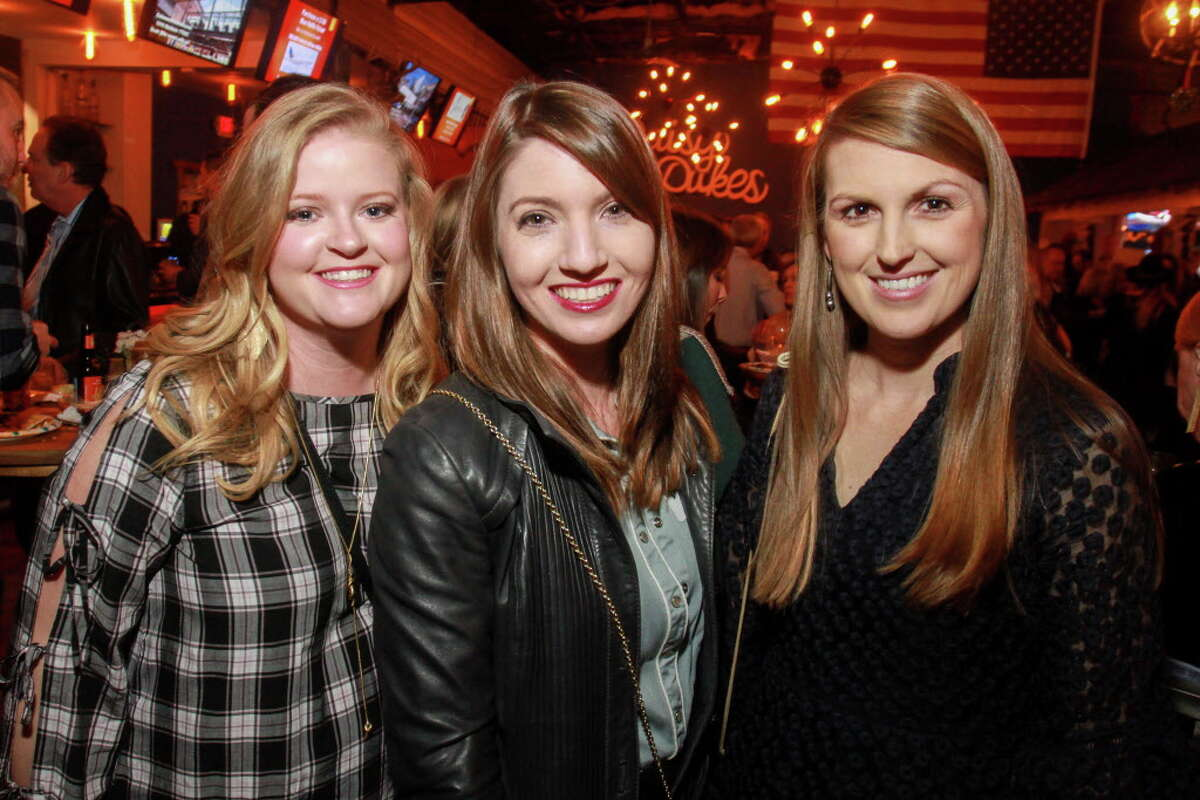 Elizabeth McCann, from left, D'Lexis Royce and Caitlin Donahoe at a celebration to help kick off the annual fundraiser for the Cattle Barons Ball.