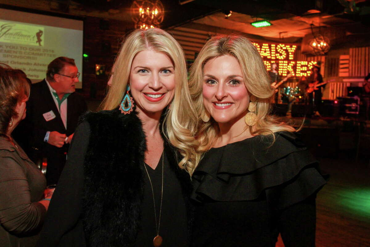 Stacy Stewart and Mary Wade at a celebration to help kick off the annual fundraiser for the Cattle Barons Ball.