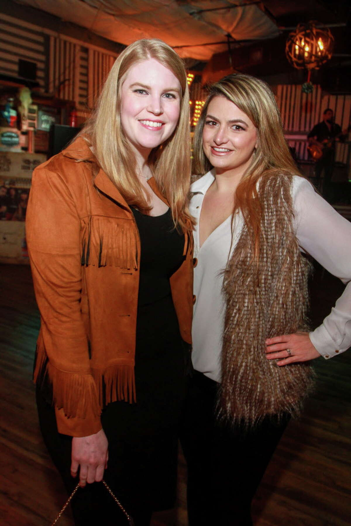 Kelsey Wright, left, and Kelli Fertitta Woods at a celebration to help kick off the annual fundraiser for the Cattle Barons Ball.