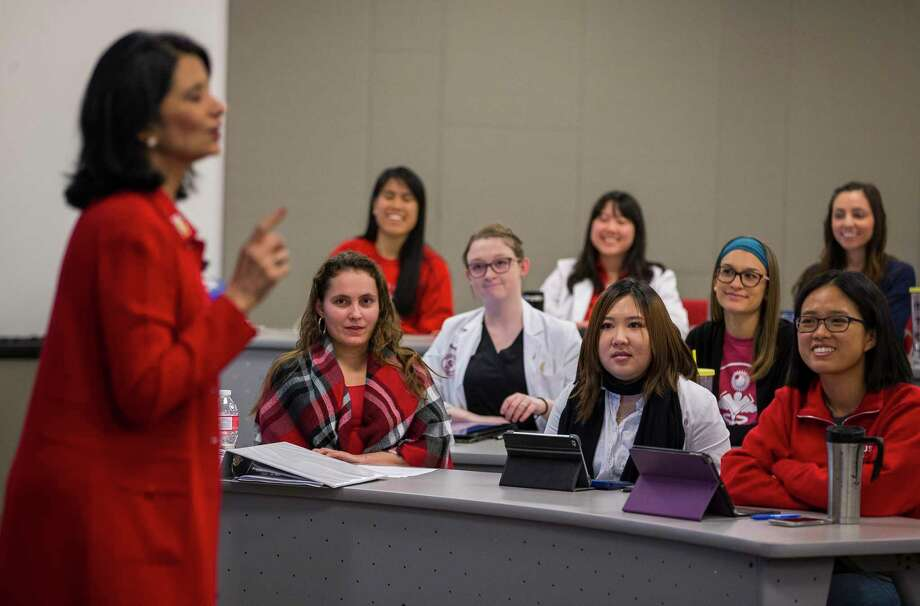 University of Houston president Renu Khator speaks to graduate students in the College of Optometry, Wednesday, Jan. 24, 2018, in Houston. Photo: Mark Mulligan, Houston Chronicle / © 2018 Houston Chronicle