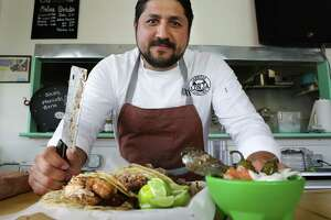 Alex Paredes, owner and chef of Carnitas Lonja, will feature a seven-course meal for the final dinner of the Saint City Supper Club in July.
