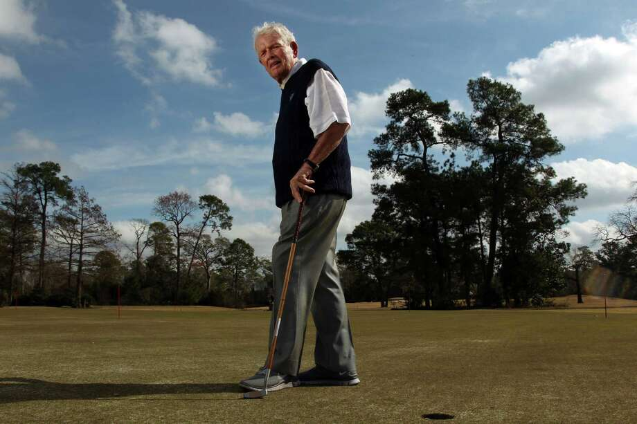 Jackie Burke, who co-founded Champions Golf Club with his late partner Jimmy Demaret, turns 95 on Monday. Photo: Mayra Beltran, Staff / © 2013 Houston Chronicle