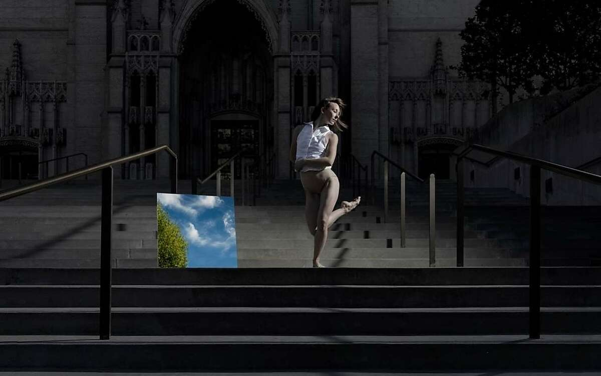 Pictured: ODC dancer Rachel Furst outside Grace Cathedral. Rachel Furst will be performing in the world premiere of KT Nelson's Path of Miracles, February 9-10 at Grace Cathedral.Photo by RJ Muna.