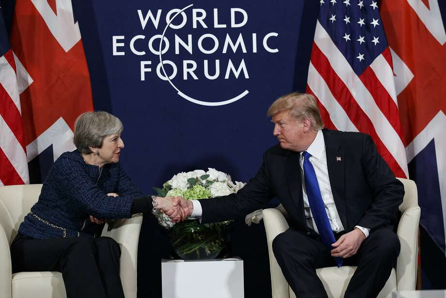 "Prime Minister Theresa May (left) described U.S.-British relations as a ""really special relationship."" Photo: Evan Vucci, Associated Press"