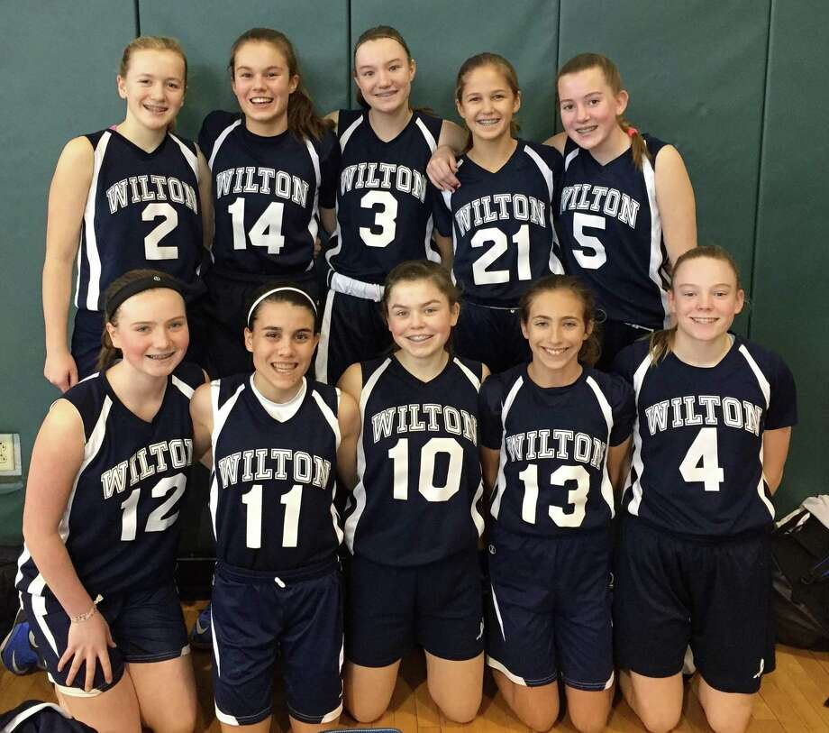 The Wilton girls 8th grade team was victorious last weekend. Team members include top row, from left, Ellie Coffey, Bella Andjelkovic, Ellie Copley, Morgan Lebek, and Erynn Floyd, and bottom row, from left, Katie Umphred, Olivia Rossi, Grace Williams, Leah Martins, and Catherine Dineen. Photo: Contributed Photo / Hearst Connecticut Media / Norwalk Hour