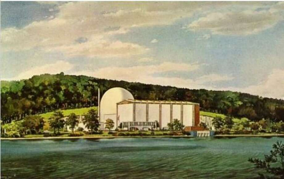 Artist's rendering of the Connecticut Yankee Power Company Plant, Haddam Neck. Postcard published by the Connecticut Yankee Atomic Power Company, ca. 1968. Photo: Connecticut Historical Society