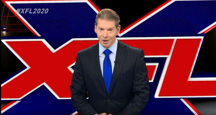 The return of the XFL was made official by Vince McMahon in a press conference Thursday afternoon. Photo: Youtube