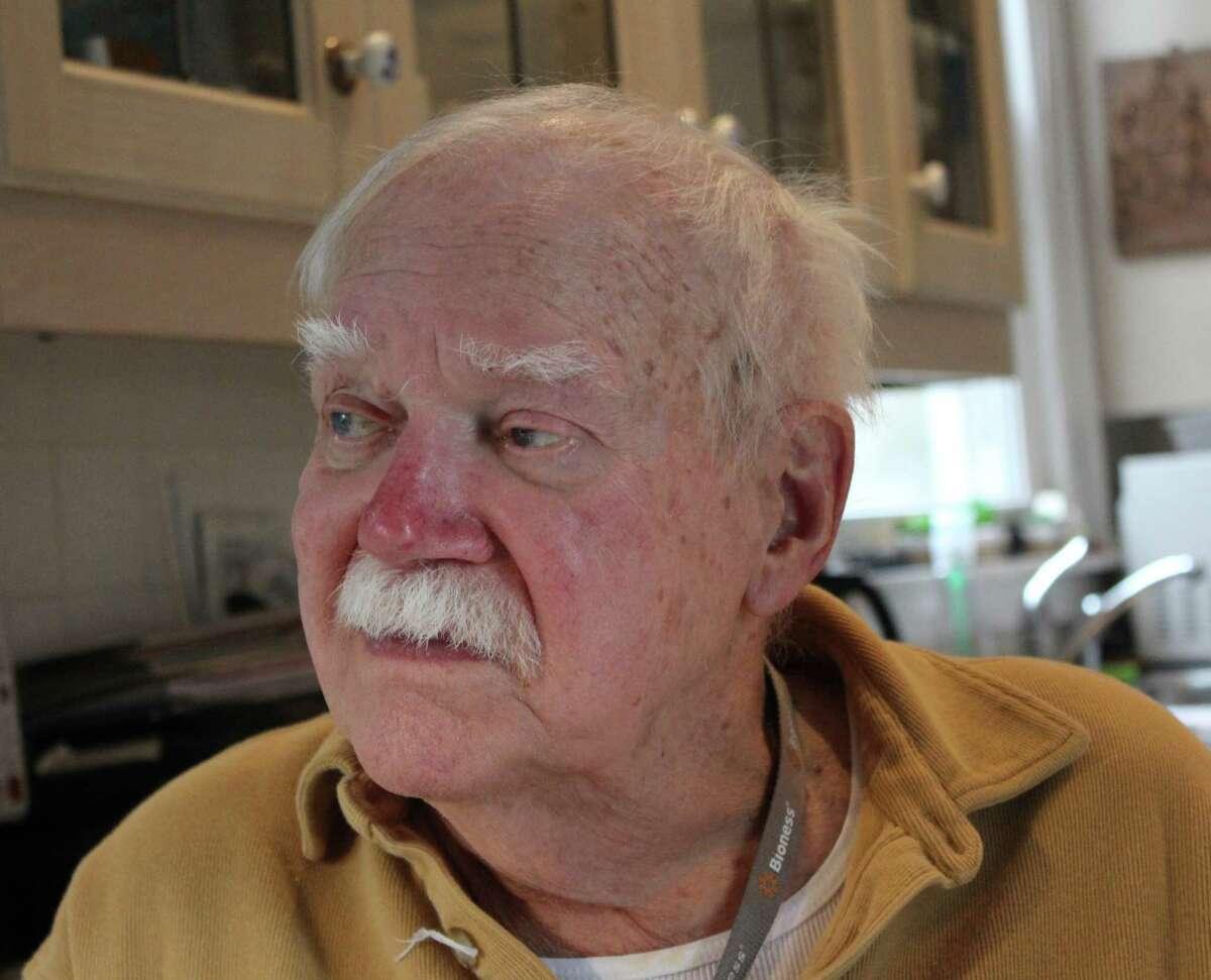 Ed Vebell at his Westport home .