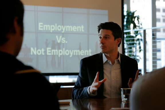 "Immigration lawyer Jason Finkelman hosts a panel at WeWork, Tuesday, Jan. 23, 2018, in San Francisco, Calif. The Finkelman Immigration Law Firm hosted a panel called ""Understanding the Changing U.S. Immigration Landscape for Entrepreneurs & Startups."""
