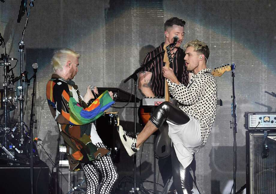 INGLEWOOD, CA - JANUARY 19:  Nicholas Petricca (L) and Kevin Ray of WALK THE MOON perform onstage during iHeartRadio ALTer Ego 2018 at The Forum on January 19, 2018 in Inglewood, United States.  (Photo by Kevin Winter/Getty Images for iHeartRadio) Photo: Kevin Winter, Staff / 2018 Getty Images