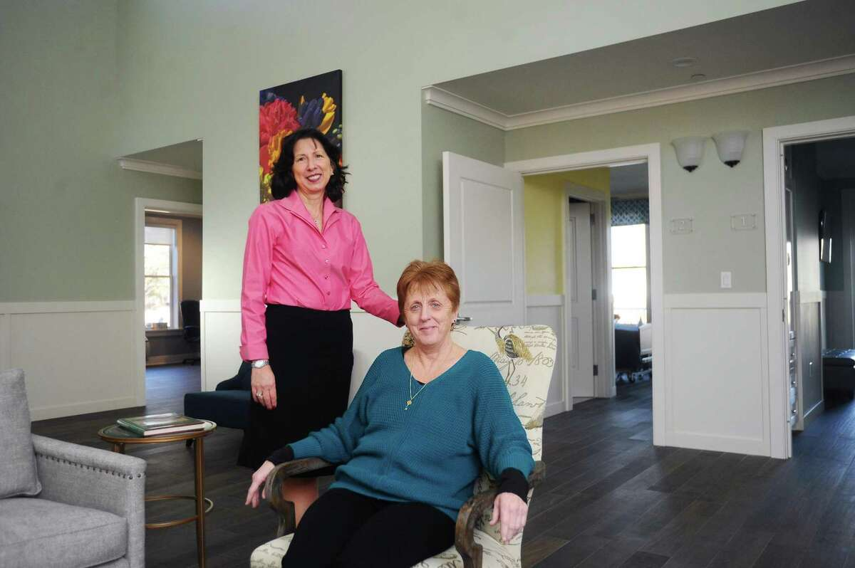 Fairfield County Hospice House Director of Development Colleen Harkey, left, and Executive Director Terry Robustelli said the new Den Road facility will offer a comfortable atmosphere for residents.