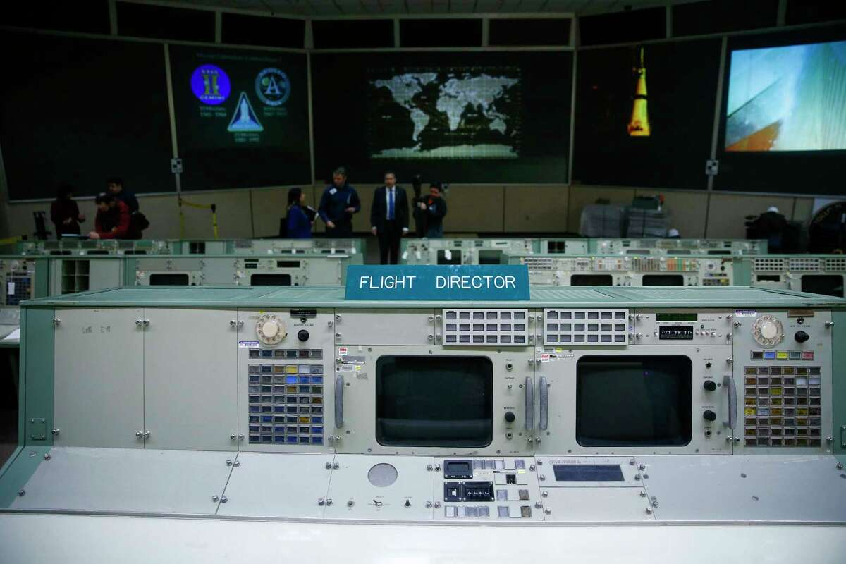 PHOTOS: The restoration of NASA's Mission Control begins The flight control consoles at Johnson Space Center's Historic Mission Control are being prepared for their trip to the Cosmosphere in Kansas for restoration Thursday, Jan. 25, 2018 in Houston. See more photos from inside this historic space in Clear Lake...