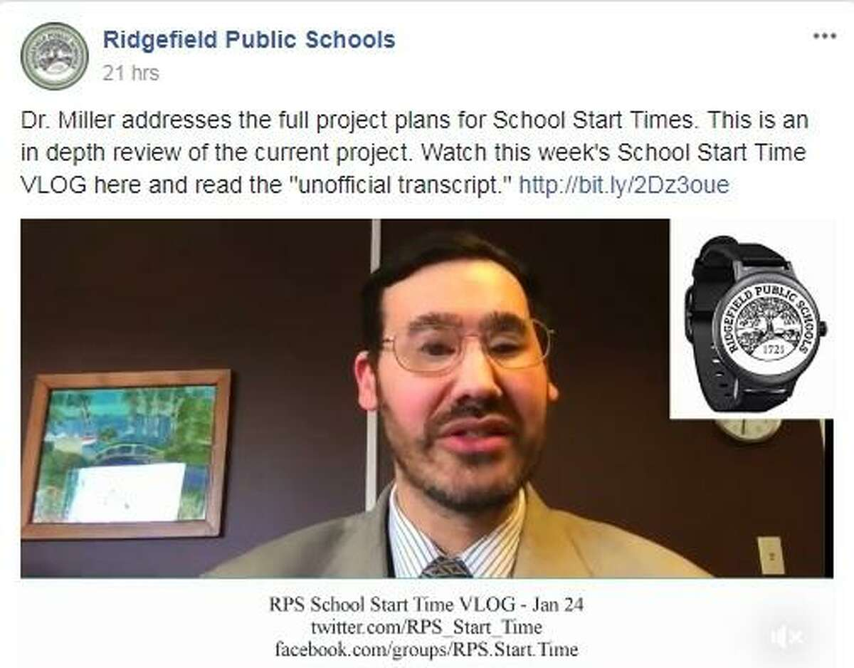 Robert Miller, the district's director of technology and operations development, discusses Ridgefield's effort to change school start times in his weekly vlog.