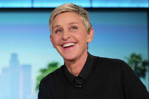"FILE - In this Oct. 13, 2016, file photo, Ellen Degeneres appears during a commercial break at a taping of ""The Ellen Show"" in Burbank. DeGeneres is known for keeping her comedy on the nice side. But she lets her inner meanie out for ""Ellen's Game of Games."" That?'s NBC's new prime-time game show, which begins its regular run Tuesday, Jan. 2, 2018, after a December sneak peek. The hour-long show subjects its contestants to minor-league torments that, it turns out, delight host DeGeneres. (AP Photo/Andrew Harnik, File)"