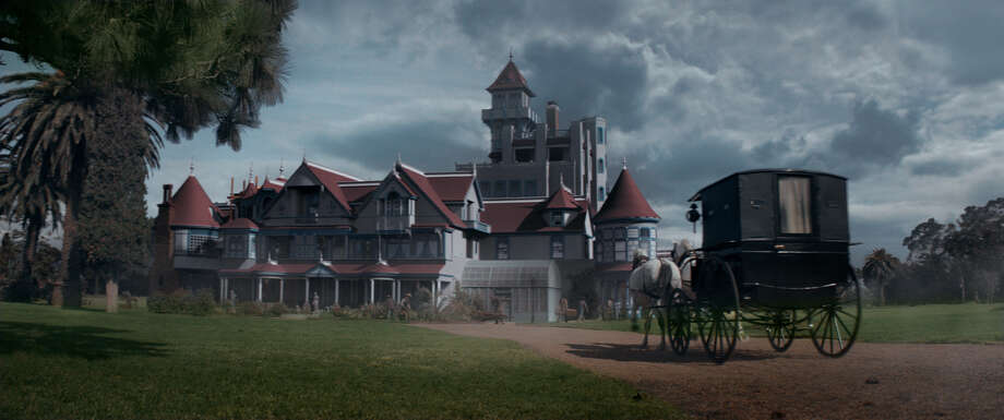 "The Winchester mansion in a scene from ""Winchester"" to be released by CBS Films and Lionsgate. Photo: Ben King/Lionsgate"