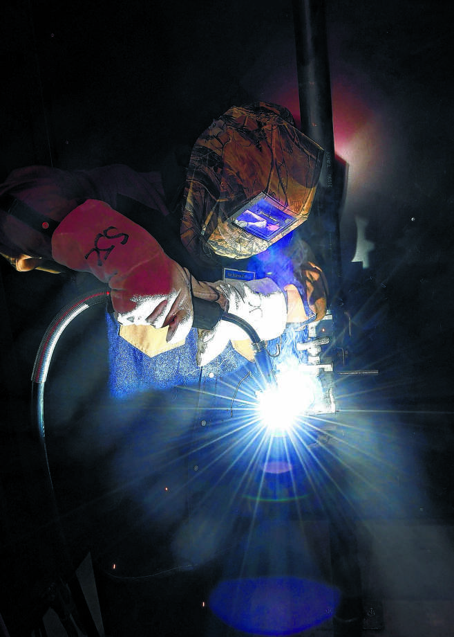 San Jacinto College welding students learn all of the facets of welding technology, opening up career paths in the manufacturing, industrial and technological fields. /  Courtesy of Melissa Trevizo, San Jacinto College