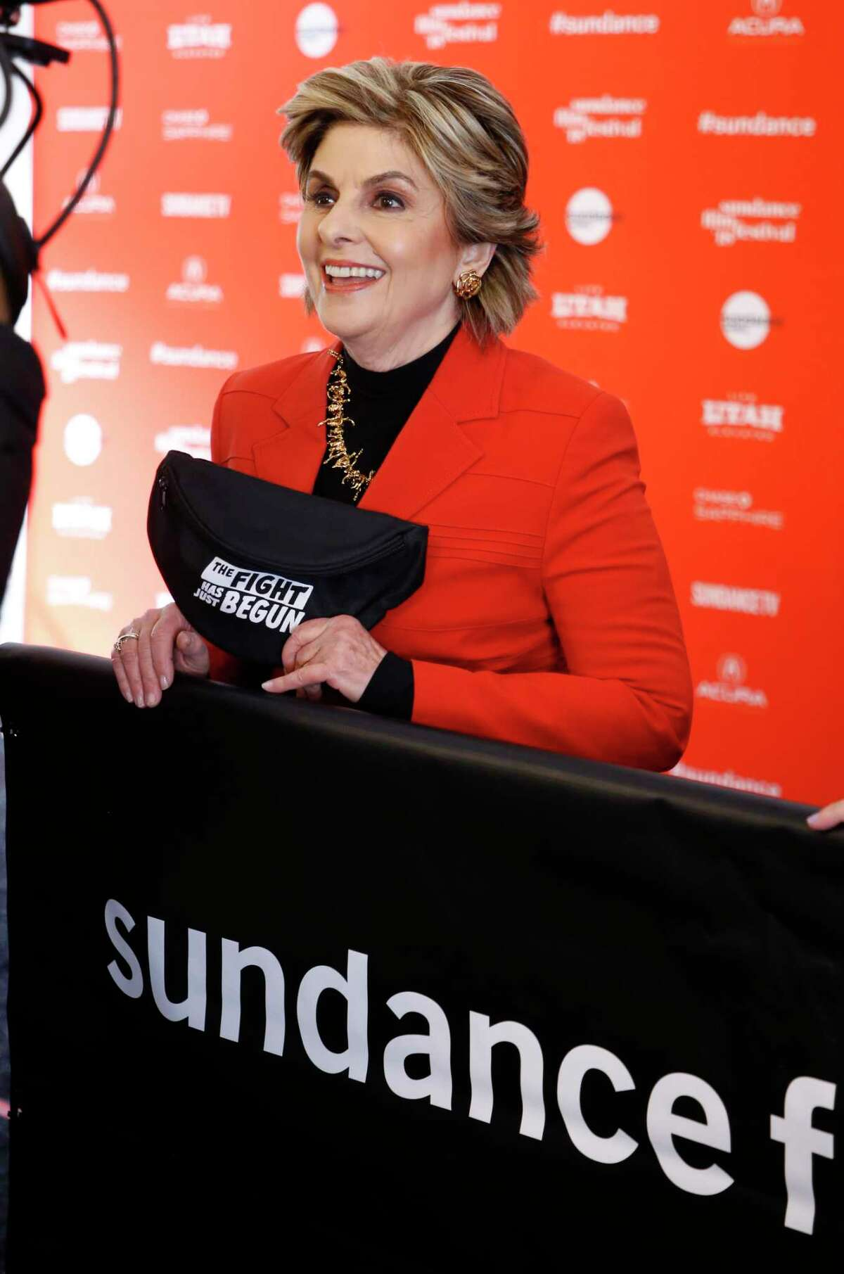 """Attorney Gloria Allred is interviewed at the premiere of """"Seeing Allred"""" during the 2018 Sundance Film Festival on Sunday, Jan. 21, 2018, in Park City, Utah. (Photo by Danny Moloshok/Invision/AP)"""