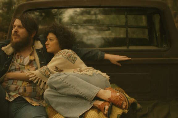 "Ben Dickey and Alia Shawkat in a scene from the film ""Blaze,"" about the musician Blaze Foley, directed by Ethan Hawke."