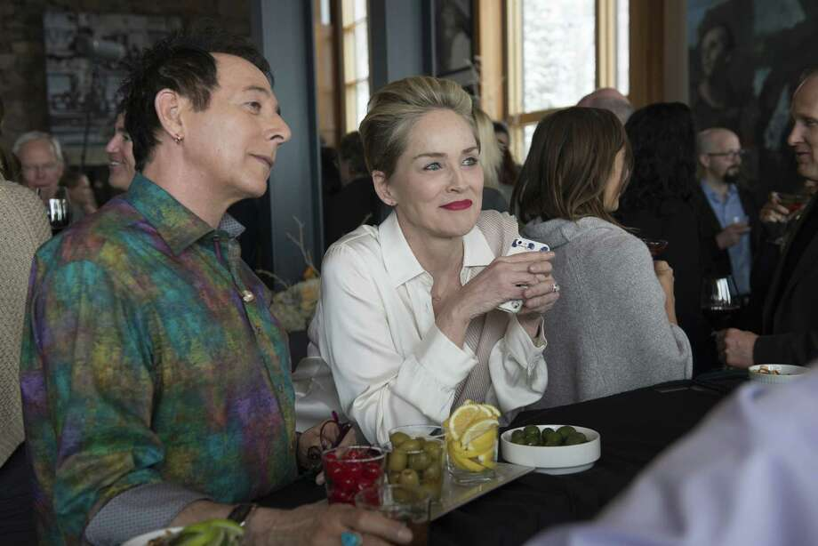 "Paul Reubens and Sharon Stone are featured in  director Steven Soderbergh's groundbreaking HBO series ""Mosaic."" Photo: Claudette Barius/HBO, HO / Los Angeles Times"