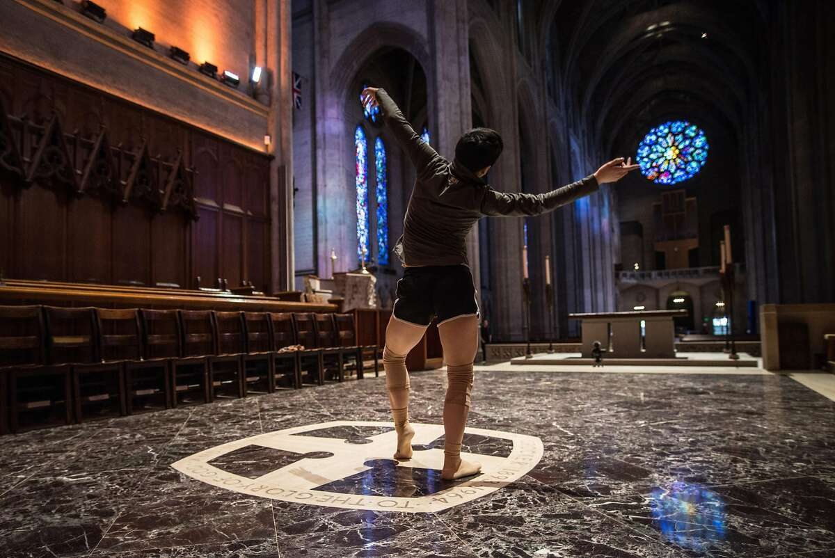 Mia Chong in rehearsal for KT Nelson's Path of Miracles, which runs February 9-10 at Grace Cathedral. Photo: Robbie Sweeny