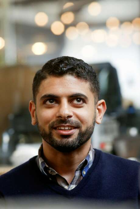 Mokhtar Alkhanshali, a Yemeni American who grew up in San Francisco's Tenderloin neighborhood, founded Port of Mokha coffee company in Oakland. Photo: Michael Macor, The Chronicle