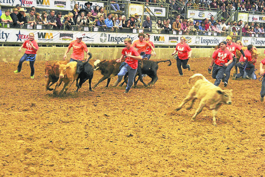 The calf scramble is one of the Humble Rodeo events for FFA and 4H students. Photo: Courtesy Photo / Internal