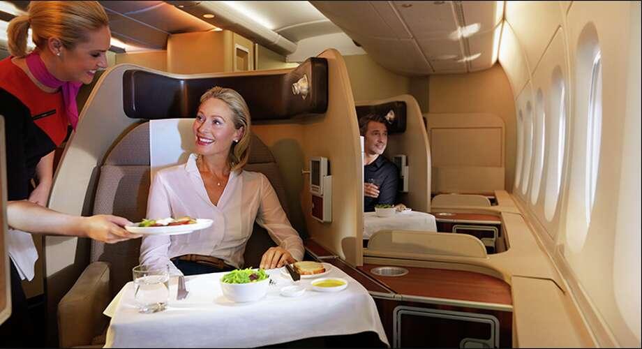 First class on Qantas Photo: Qantas