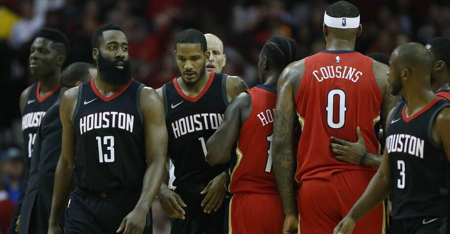 PHOTOS: Rockets game-by-gameThe Rockets have won 9 of 11 games against the Pelicans, including a 130-123 win this season. Browse through the photos to see how the Rockets have fared through each game this season. Photo: Karen Warren/Houston Chronicle