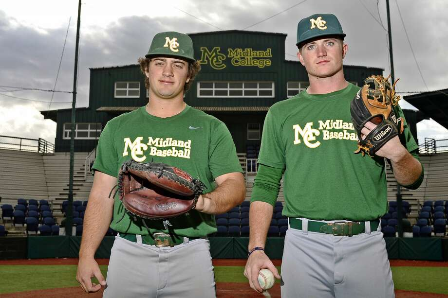 Midland College's Cameron Melcher (left) and Logan McCrummen (right) in portrait Jan. 25, 2018, at Christensen Stadium. James Durbin/Reporter-Telegram Photo: James Durbin