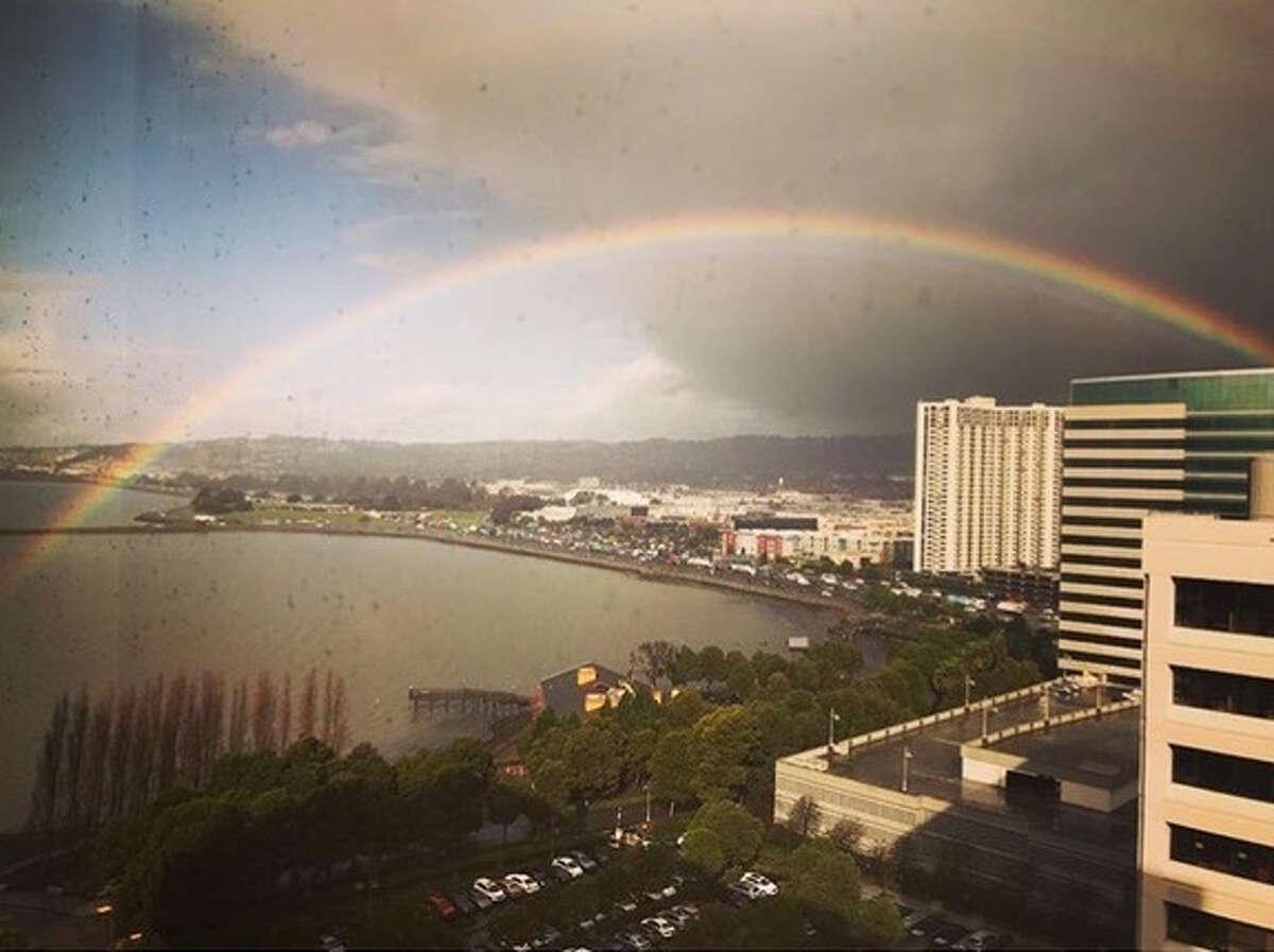 Rainbows appeared over the Bay Area on Thursday, Jan. 25, 2018.