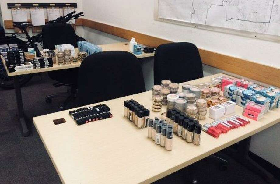 Two women were arrested in Cupertino with thousands of dollars worth of stolen makeup on Tuesday, authorities said.