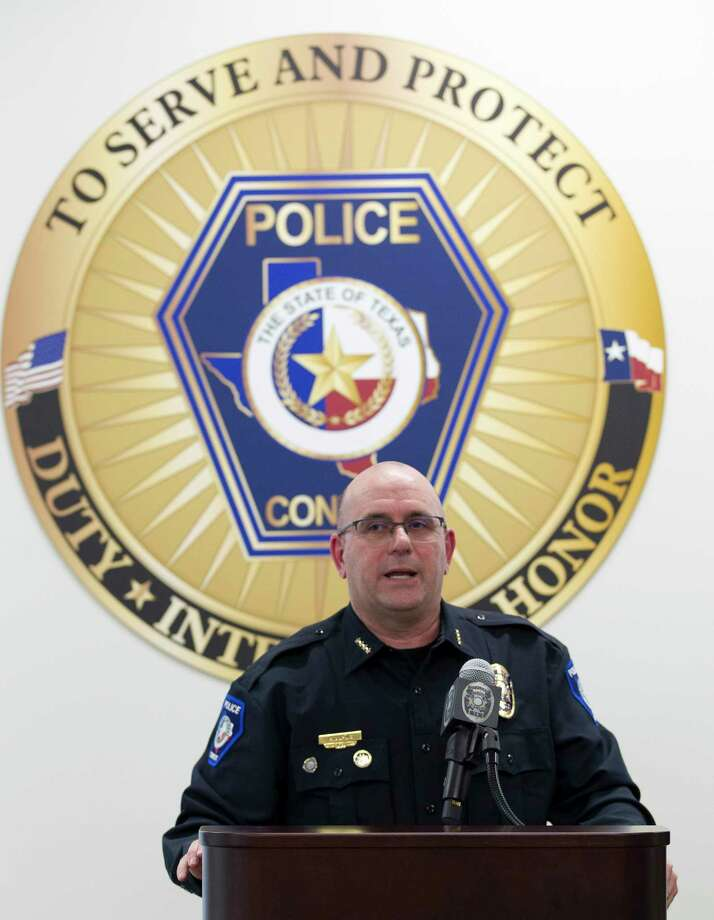 Conroe Police Chief Philip Dupuis announced his retirement from the department Wednesday, Jan. 31, 2018. Photo: Jason Fochtman, Staff Photographer / © 2018 Houston Chronicle