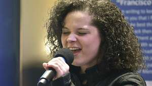 Moriah Formica, a local singer who appeared on The Voice, sings the National Anthem before Albany County Executive Daniel McCoy gives his annual State of the County address at the Times Union Center Atrium Thursday, Jan. 25, 2018 in Albany, N.Y.  (Lori Van Buren/Times Union)