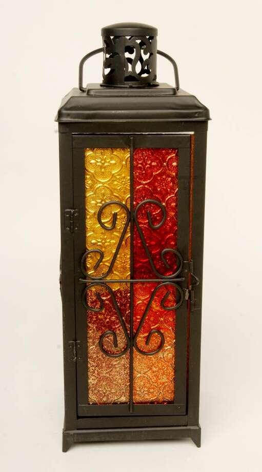 Tin and stained glass lantern, $12.99, TJ Maxx, http://www.tjmaxx.com Photo: LUANNE M. FERRIS / 00005266A