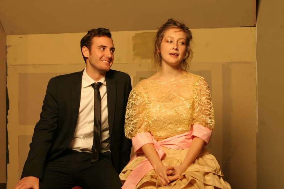 """Andrew Barresi and Corey White appear in """"Five Women Wearing the Same Dress."""" (Albany Civic Theater)"""