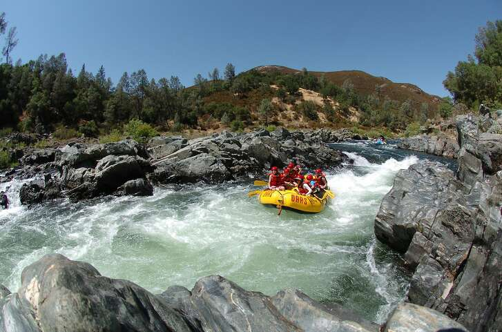 River rafting at the South Fork of the American River.
