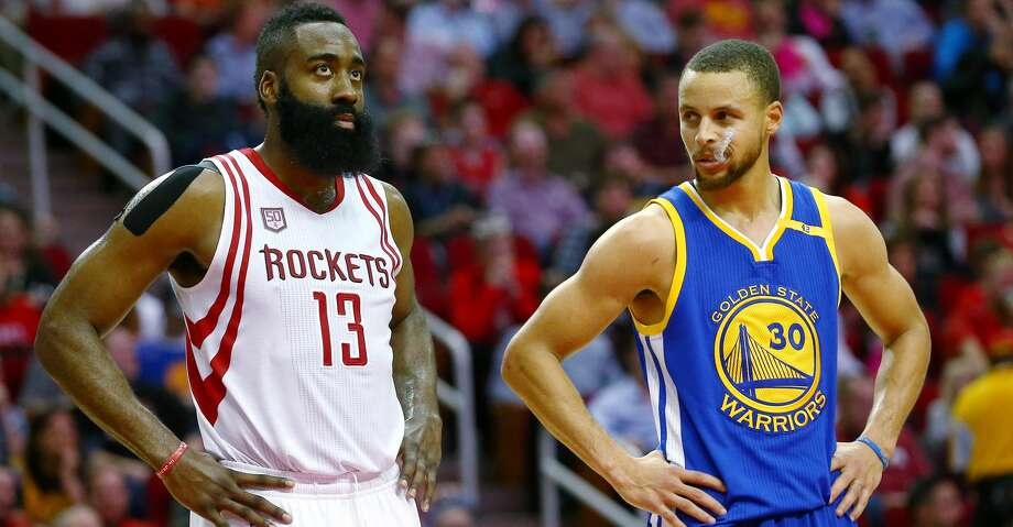 Stephen Curry picked James Harden and Giannis Antetokounmpo, the NBA's top two scorers, and grabbed his other two Golden State teammates in the selections Thursday. Photo: Jon Shapley/Houston Chronicle