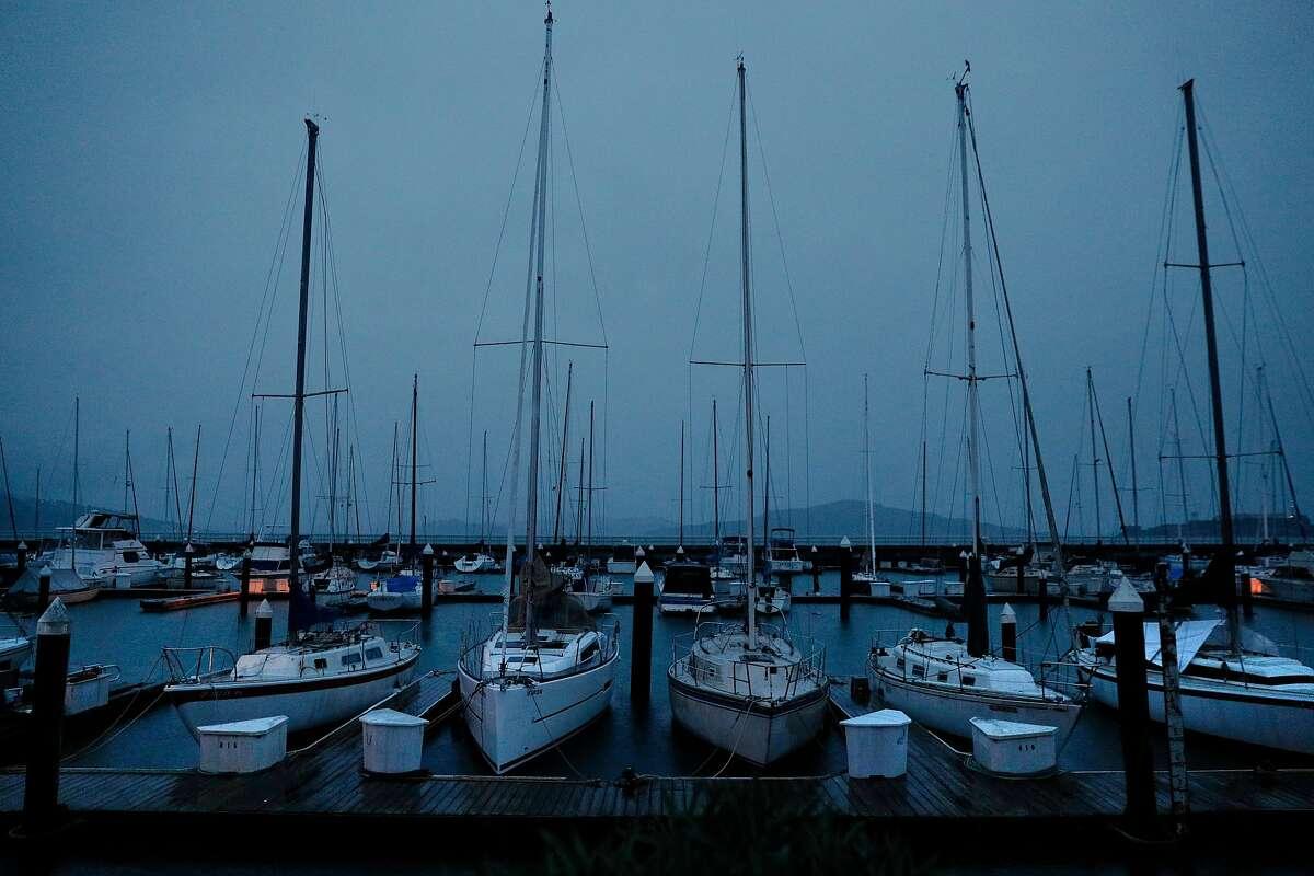 Boats docked at the East Harbor Marina near Fort Mason in San Francisco, Calif., on Wednesday, January 24, 2018.